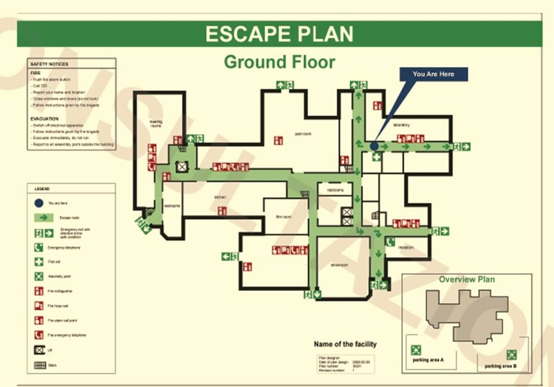 planimetrie di emergenza ed evacuazione